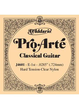 D'Addario J4601 Pro-Arte Nylon Classical Guitar Single String Hard Tension First String