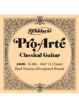D'Addario J4606 Pro-Arte Nylon Classical Guitar Single String Hard Tension Sixth String