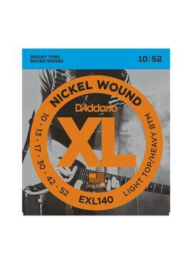 D'Addario EXL140 Nickel Wound Electric Guitar Strings Light Top/Heavy Bottom 10-52