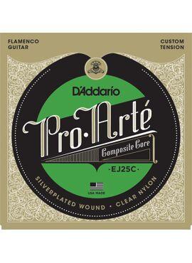 D'Addario EJ25C Pro-Arte Clear Nylon Composite Flamenco Guitar Strings set