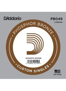 D'Addario PB049 Phosphor Bronze Wound Acoustic Guitar Single String .049