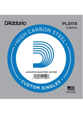 D'Addario PL0115 Plain Steel Guitar Single String .0115