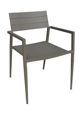 Venice Alu chair taupe