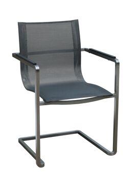Gardino chair steel black