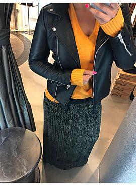 Faux leather jacket van VILA - CARA