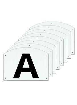 Dressage manege letters ABCEFHKM 30 x 20 cm