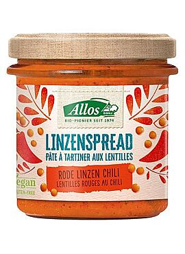 Rode Linzenspread chili 140g