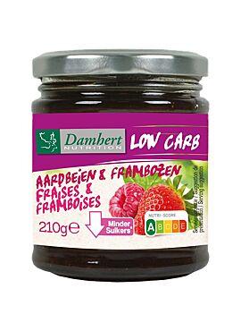 Damhert Confituur Aardbei - Framboos low carb 210g