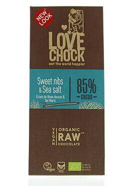 Lovechock Sweet Nibs/seasalt 86% tablet 70g