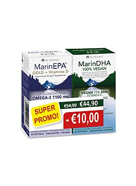 PROMOTIE DUO-pack MarinEPA Gold 30sgls + MarinDHA 60 vcps