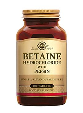 Betaine Hydrochloride with Pepsin 100 tbl