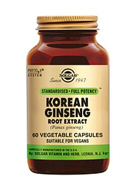 Ginseng Korean Root Extract 60 vcps
