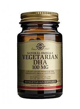 Vegetarian DHA 100 mg 30 vegigels