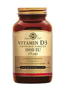 Vitamin D-3 1000 IU/25 µg Chewable 100 kauwtbl