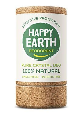 Happy earth deodorant 100% pure crystal 90g