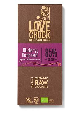 Lovechock Blueberry Hemp Seed 84% tablet 70g