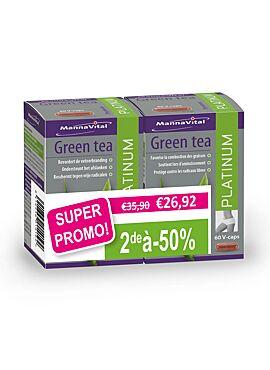DUO Green Tea Platinum 2*60 vcps PROMO 2e aan -50%