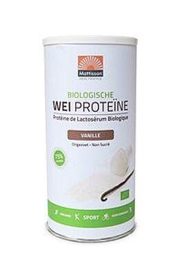 Wei Proteïne Poeder vanille bio 450g