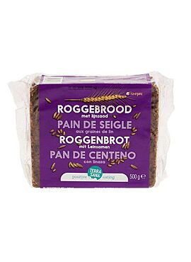 Roggebrood met lijnzaad 500g