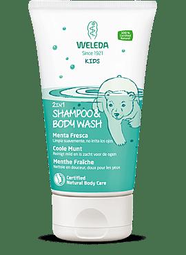 Kids 2in1 Shampoo & Body Wash Coole Munt 150ml