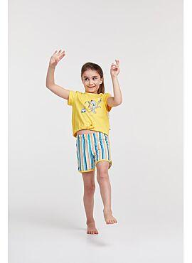 Woody Meisjes-Dames Pyjama Geel