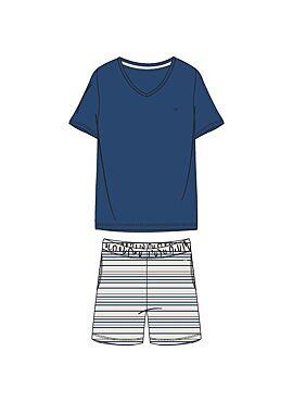 Woody Heren Pyjama Blauw