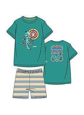 Woody Jongens-Heren Pyjama Groen