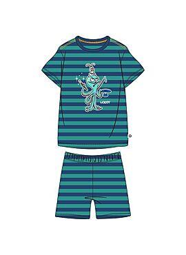Woody Jongens-Heren Pyjama Blauw-Groen Gestreept
