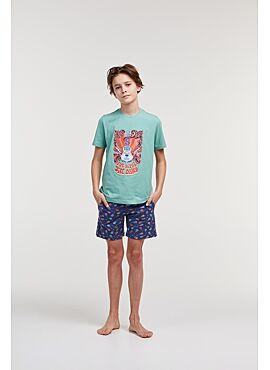 Studio Woody Jongens-Heren Pyjama Zachtgroen