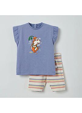 Little Woody Meisjes Pyjama Blauw