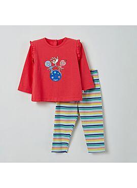Little Woody Meisjes Pyjama Fuchsia