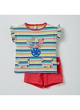 Little Woody Meisjes Pyjama Multicolor Gestreept