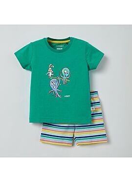 Little Woody Unisex Pyjama Groen