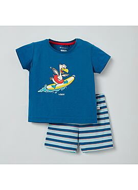 Little Woody Unisex Pyjama Blauw