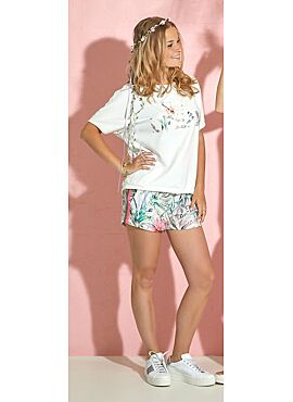 Vitamia Homewear kaki bloem short