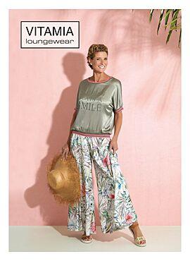 Vitamia Homewear kaki/bloemen