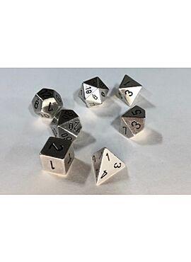Solid Metal Silver Colour Poly 7 die set