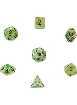 Marble Poly 7 Set:  Marble Green w/dark Green