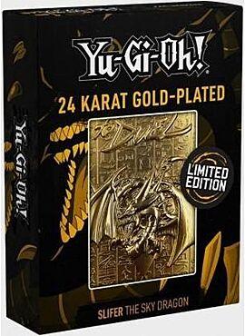 YuGiOh! Limited Edition 24K Gold Metal God Card Slifer the Sky Dragon