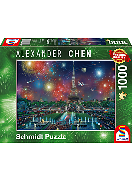 puzzel Vuurwerk bij de Eiffeltoren, 1000 stukjes