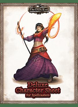 The Dark Eye: Deluxe Character Sheet for Spellcasters