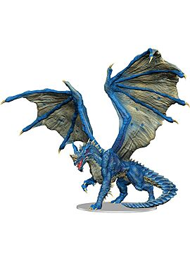 Icons of the Reams - Adult Blue Dragon Premium Figure