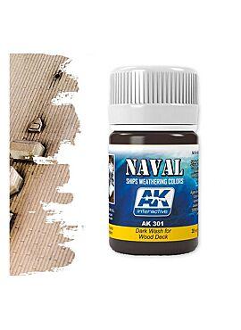 AK Naval Dark Wash For Wood Deck