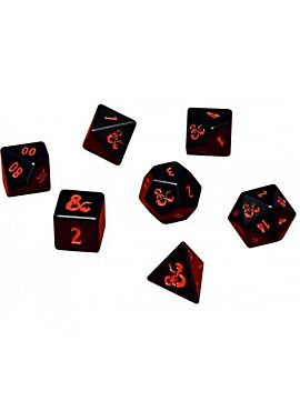 UP - Heavy Metal 7 RPG Set Dice for Dungeons & Dragons