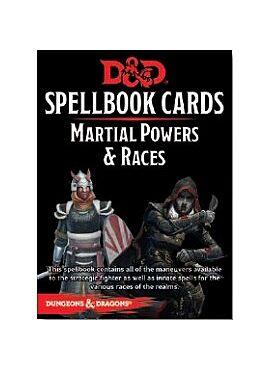 Spellbook cards Martial Powers & Races