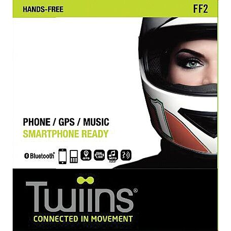 TWIINS FF2 PHONE/GPS/MUSIC HANDS-FREE KIT
