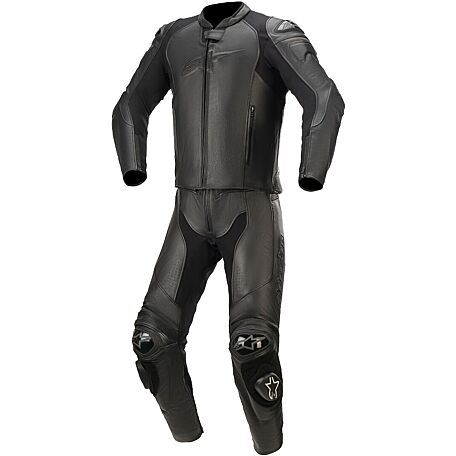 ALPINESTARS GP PLUS V3 GRAPHITE LEATHER SUIT 2PC