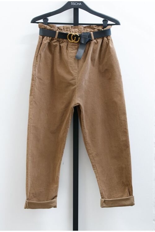 BO BELTED TROUSERS