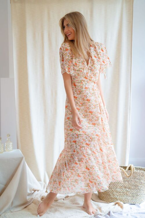 KATE LONG FLORAL DRESS