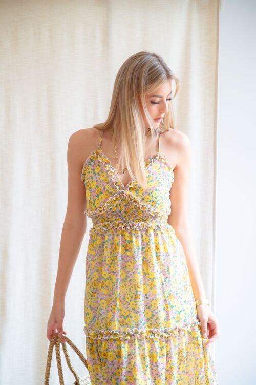 OLIVIA LONG FLORAL DRESS